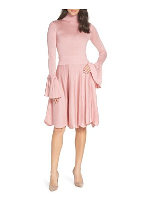 CAARA pleated cuff sweater dress