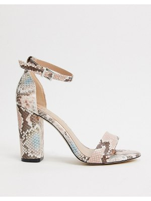 Call It Spring by aldo tayvia ankle strap block heeled sandal in light pink snake