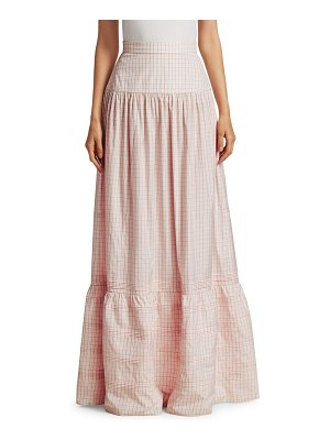 CALVIN KLEIN 205W39NYC check silk long skirt
