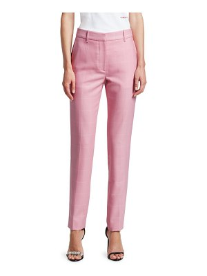 CALVIN KLEIN 205W39NYC check straight leg trousers