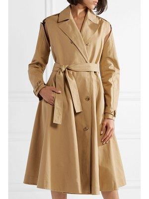 CALVIN KLEIN 205W39NYC convertible double-breasted cotton-twill trench coat