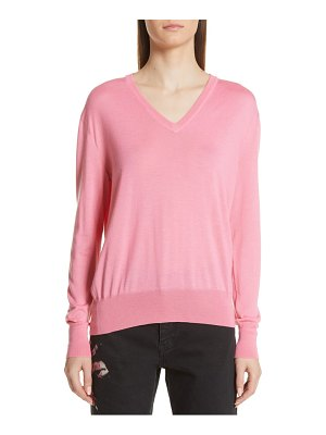 CALVIN KLEIN 205W39NYC cutout cashmere & silk blend sweater