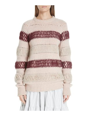 CALVIN KLEIN 205W39NYC embroidered stripe wool sweater