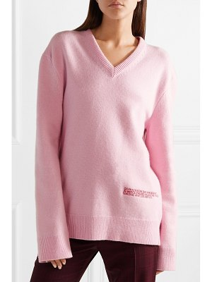CALVIN KLEIN 205W39NYC embroidered wool and cotton-blend sweater