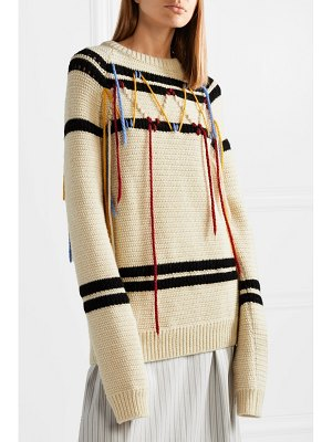 CALVIN KLEIN 205W39NYC embroidered wool sweater