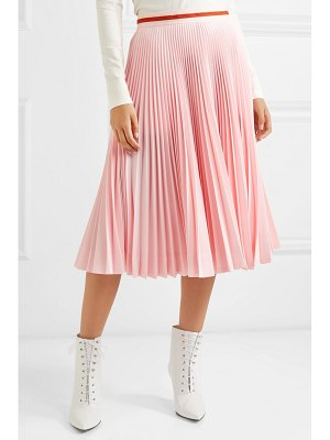 CALVIN KLEIN 205W39NYC pleated crepe midi skirt