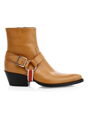 CALVIN KLEIN 205W39NYC tex harness leather ankle boots