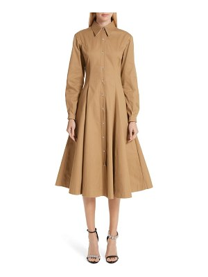 CALVIN KLEIN 205W39NYC western twill a-line midi dress