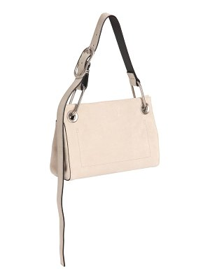Calvin Klein Collection Belted suede shoulder bag
