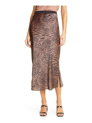CAMI NYC the jessica jungle print silk midi skirt