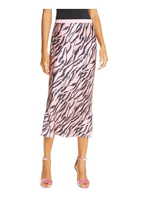 CAMI NYC the jessica prism zebra stripe silk midi skirt
