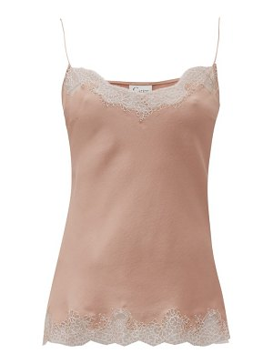 Carine Gilson lace trimmed silk cami top