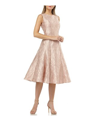 Carmen Marc Valvo Infusion Sleeveless Fit-&-Flare Brocade Cocktail Dress