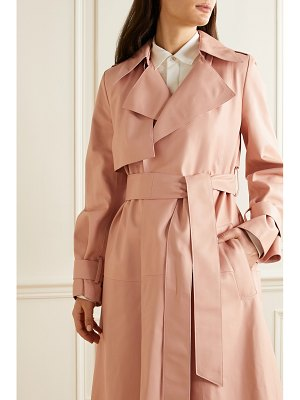 Carolina Herrera belted leather trench coat