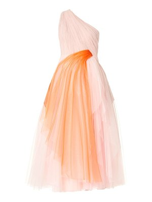 Carolina Herrera draped tulle one-shoulder gown