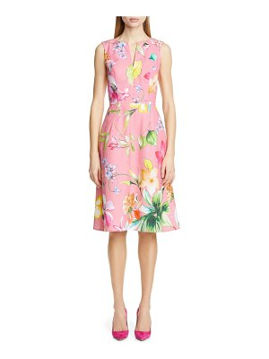 Carolina Herrera floral cocktail dress