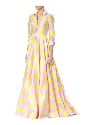 CAROLINA HERRERA Polka Dot Trench Gown