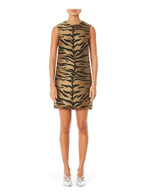 Carolina Herrera Tiger Print Mikado Shift Dress
