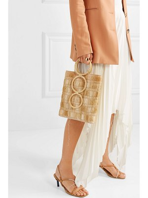 Carolina Santo Domingo petra mini raffia and wicker tote