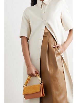 Carolina Santo Domingo sofia mini suede and leather shoulder bag