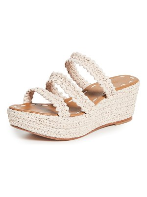 CARRIE FORBES said platform wedge sandals