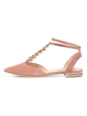 Casadei 10mm unchained suede flats