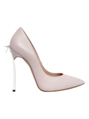 Casadei 120mm blade bow leather pumps