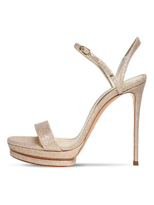 Casadei 120mm glittered platform sandals