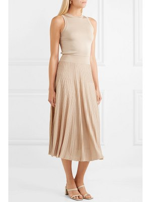 CASASOLA pleated stretch-knit midi dress