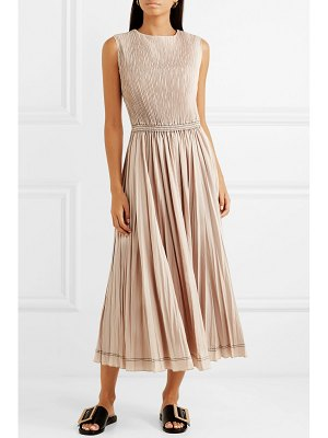 CASASOLA plissé-taffeta midi dress