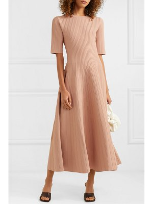 CASASOLA ribbed stretch-knit midi dress