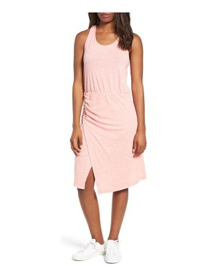 Caslon caslon racerback side ruched cotton blend tank dress