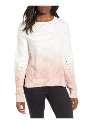 CASLON Caslon Shaker Stitch Cotton Sweater