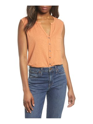 Caslon caslon sleeveless button top