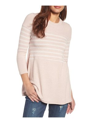 Caslon caslon stripe panel sweater