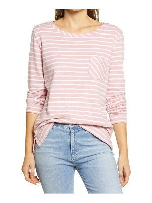 Caslon caslon stripe scoop neck top