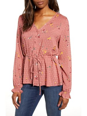 Caslon caslon textured print top