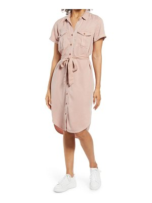 Caslon caslon utility short sleeve shirtdress