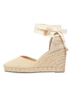 Castaner 80mm carina eco cotton espadrille wedges