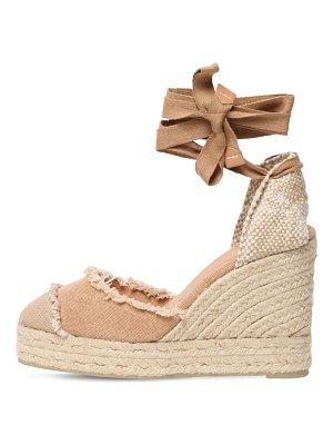 Castaner 80mm catalina canvas espadrille wedges