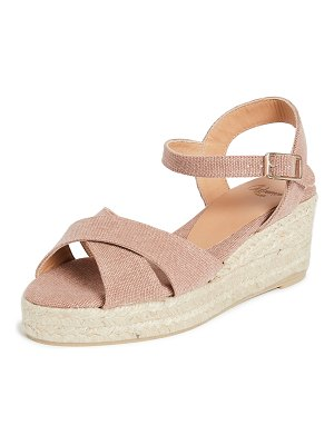 Castaner blaudell crisscross low wedge espadrilles