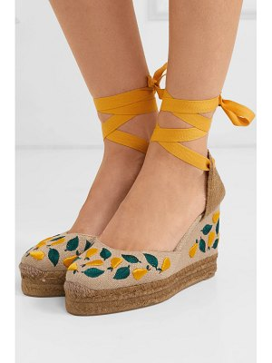 Castaner carina 100 embroidered canvas wedge espadrilles