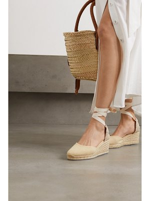 Castaner net sustain carina 60 canvas wedge espadrilles