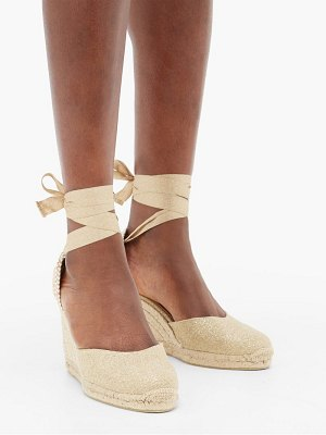Castaner carina 80 canvas and jute espadrille wedges