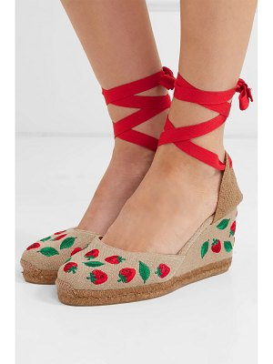 Castaner carina 80 embroidered canvas wedge espadrilles