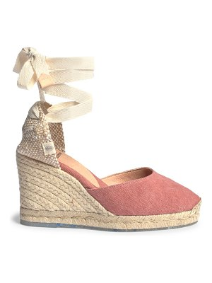 Castaner carina recycled canvas espadrille wedges