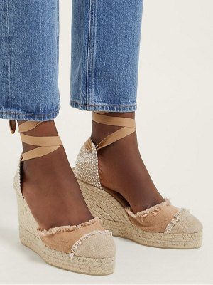 Castaner catalina 80 canvas & jute espadrille wedges