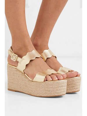 Castaner emily metallic leather wedge espadrilles