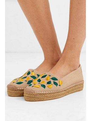 Castaner kenda embroidered canvas espadrilles
