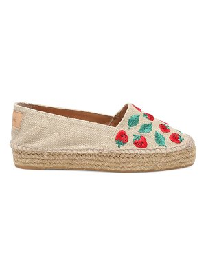 Castaner kenda embroidered platform slip-on espadrilles